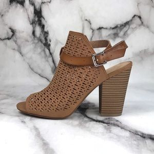 Joe's Laser Cut Ankle Tan Buckle Booties NWOB